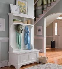 White Coat Rack With Storage Decor Awesome Entryway With White Wood Entryway Storage Bench And 16