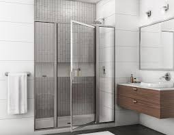 image of hinged shower door replacement parts