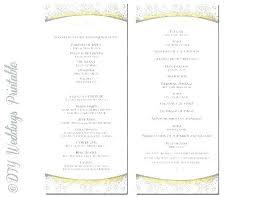 Wedding Booklet Template Program Booklet Template Wedding Free Mass Diy Ceremony