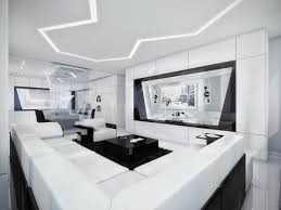 L Shaped Couch Living Room Dark Table Modern Black And White Modern Living Room Geometric