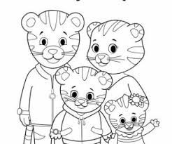 Daniel Tiger Coloring Pages Free Printable S Neighborhood