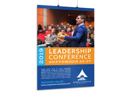 business services template leadership conference poster template