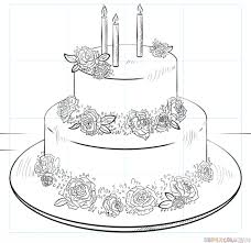 How To Draw A Birthday Cake Step By Step Drawing Tutorials