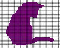 Cat Knitting Chart Cat Silhouette Chart A A Chart Used To Knit One Of Two Cat