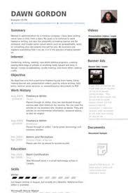 Incredible Freelance Writer Resume Sample   Resume Format Web