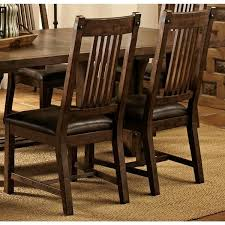 rimon solid wood mission style rustic dining chairs set of 2 throughout inspirations 6