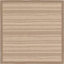 outdoor border beige 6 x 6 39 square rug