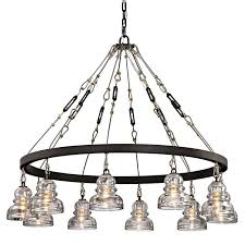 menlo park bronze 10 light chandelier
