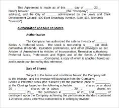 purchase agreement sample sample stock purchase agreement template 10 free documents in