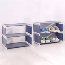 details about new stackable shoe rack shelf storage closet metal stand organizer fabric holder