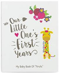 Ronica First Year Baby Memory Book \u0026 Journal - Modern baby shower gift keepsake Amazon.com :