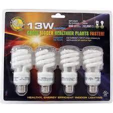 Cfl Tube Light Set Sunblaster 13 Watt Cfl Grow Lamp 4 Pack