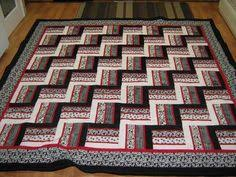 Rail Fence quilting pattern - nice and simple strip quilting ... & Rail Fence   Craftsy Adamdwight.com