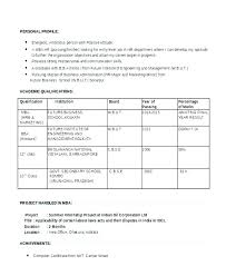 Curriculum Vitae Format Word Document. Free Resume Format Templates ...