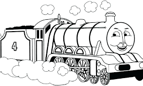 steam engine train coloring pages page colori