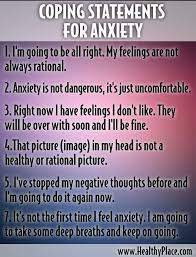Positive Mind Quotes Mesmerizing Inspirational Positive Life Quotes Coping Statements For Anxiety