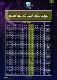 مواعيد صلاة عيد الأضحى المبارك فى المدن والمحافظات المصرية