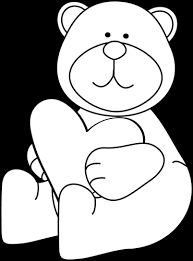 hug clipart black and white. black and white bear hugging a heart clip art - image hug clipart