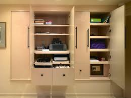 office wall cabinets. Contemporary Wall Interesting Wall Cabinet Design Ideas For Home Office Which Has Seven  Shelves And Storage Drawer Plus Double Door Using Dark Finish Iron Pull Handles Cabinets E