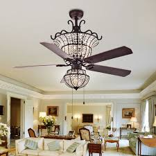 chandelier ceiling fan rustic