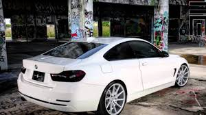BMW Convertible bmw 4 series convertible white : Alpine White BMW 4 Series Coupe With Vossen Wheels - YouTube