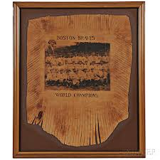 1914 boston braves world champion leather pillowtop