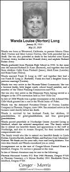 Obituary for Wanda Louise (Norton) Long