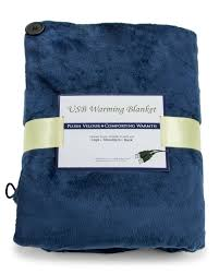 com convenient gadgets gifts usb heated shawl and lap blanket blue color usb heated throw perfect alternative to a mini office desk heater