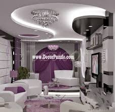 Latest Design Of Living Room Contemporary Pop False Ceiling Design With Led Lights For Living