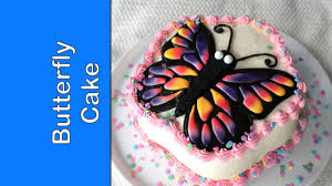How To Make Butterfly Cake Easy Birthday Cake Project Youtube