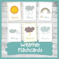 Flash cards are an excellent tool to encourage memory retention. Beautiful Printable Weather Flashcards For Kindergarten And Preschool Nurtured Neurons