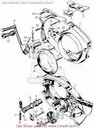 Honda motorcycle 305 engine diagram honda auto wiring diagrams honda cl77 scrambler 1965 usa305 kick starterright