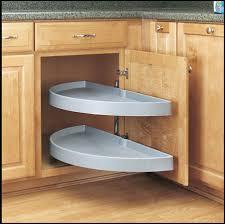 Blind Corner Cabinet Pull Out Shelves Half Moon PivotSlide Out For Blind Corners RevaShelf Blind 13