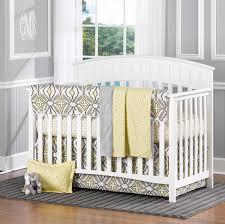 gray and lemon eden set4 pc baby bedding set in gender neutral colors