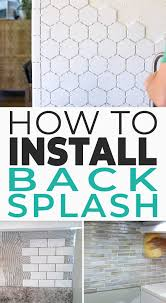 Install Backsplash Impressive How To Install A Backsplash The Budget Decorator