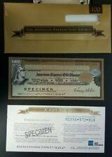 american express 1990 s 100 specimen gift cheque unc