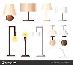 Different Types Of Lighting Design Vector Set Different Types Indoor Lighting Pendant Ceiling