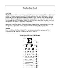 Fillable Online Healthcare Uiowa Snellen Eye Chart