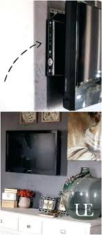 ways to hide cables on wall mounted tvs how to hang a and not see the