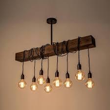 wood beam chandelier bronze rustic wooden industrial