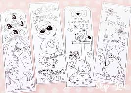 There is nothing like an appropriate bookmark to prompt a child to turn the pages! Printable Bookmarks To Color Skip To My Lou