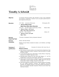 Prepossessing Professional Musician Resume Example On Pianist Sampl