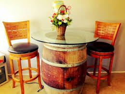 furniture made from wine barrels. Wine Barrel Bar Table Glass Pane Diy Furniture Wooden Stool Country Style Made From Barrels