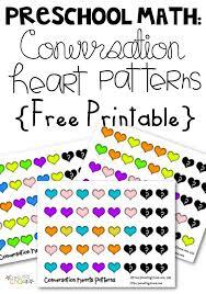 FREE Conversation Hearts Pattern Math Worksheets