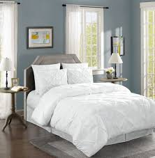chezmoi collection berlin 3 piece pinch pleated pintuck comforter set com