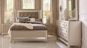 ... King Size Bedroom Furniture Sets Deluxe Paris Sofia Vergara Paris  Champagne Five Piece Elegance Glamorous Modish ...