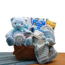 my first teddy bear new baby boy gift basket imagerjs