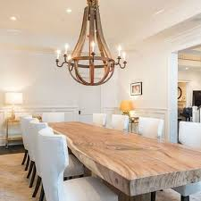 rustic french country furniture. natural wood dining room table with wine barrel stave chandalier rustic french country furniture