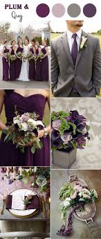 8 Perfect Fall Wedding Color Combos To Steal In 2017: #6. Classic plum