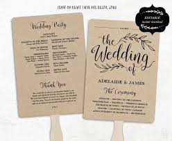 Rustic Wedding Program Fan Template Free Templates All Together